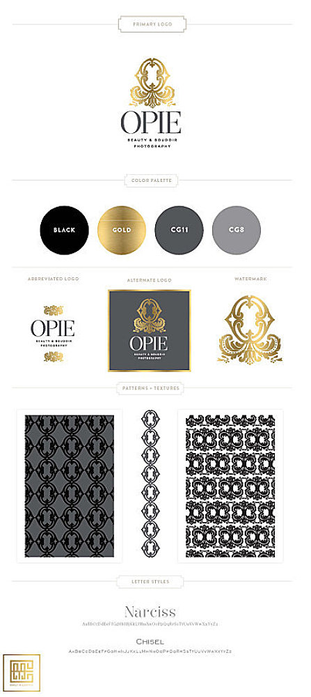 OpieFoto Boudoir and Beauty Photography Brand Logo Utah