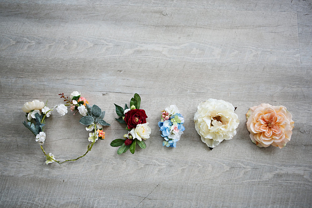 flower hair pieces for maternity photos