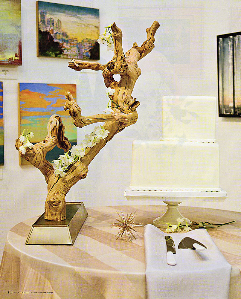 modern art gallery wedding cake salt lake city utah